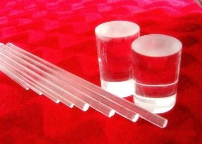 Quality Light Guide Optical Solid Pure Quartz Glass Rod High Strong Hardness for sale