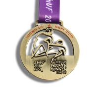 China Hong Kong Wushu Sports Day Medals , Custom Diecast Medals Hollow Style on sale