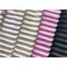 China Minky Plush Fabric Short Pile Fabric 100% Polyester Strip Design Velboa Fabric wholesale