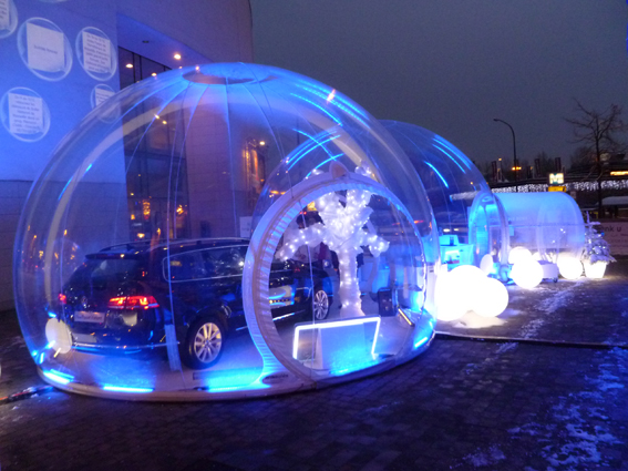 Inflatable snow globe festival for christmas snow globe make