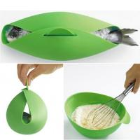 China Round Shape Silicone Kitchen Utensils Silicone Collapsible Bowl For Baking Fish wholesale