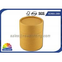 China No Printing Kraft Cardboard Tubes Packaging , Cylinder Round Kraft Paper Cans wholesale