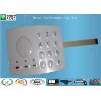 China 3M467 MP200 Metal Dome Membrane Switch Keypad Sand Effec 0.15 PET Overlay With 3 SMT LEDs wholesale
