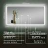 China STRIP LIGHT Illuminated Bathroom Mirrors With Bluetooth , Audio Bathroom Mirror wholesale