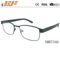 China Newest Style 2017 Men's Eyewear Fashionable reading glasses with stainless steel wholesale