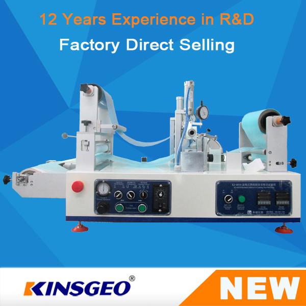 Quality Coater quente contínuo do derretimento do laboratório KJ-6018, controle de Digitas quente da máquina de revestimento do derretimento for sale