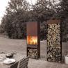China Yard / Garden Cast Iron Fire Pot , Corten Steel Fire Pit Wood Burning Fireplace wholesale