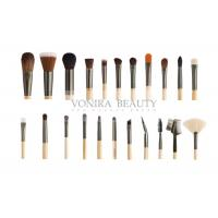 China Custom 22 Piece Full Set Private Label Makeup Brushes Wood Handle For Face , Eyes And Lip wholesale