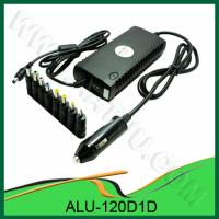 China 120W Universal DC Power Adapter for Car Use, with 1 LED, 1 USB Port, 8 Output Pins ALU-120D1D wholesale
