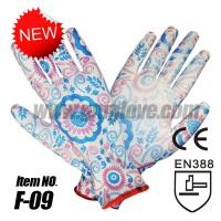 China 13-Gauge Color Printed PU Gloves wholesale