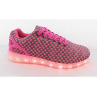 China Fashionable Usb Charging Smart Casual Shoes For Men / Ladies Sports Flashing Shoes wholesale