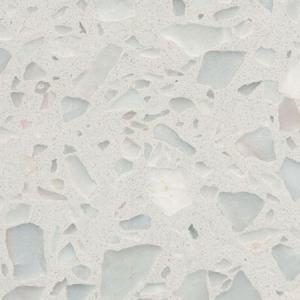 China Bright Black Terrazzo Tile , Terrazzo Vinyl Floor Tiles Vibrant Marvelous Texture wholesale