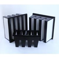 China MERV16 V Bank Cell Filter With ABS Plastic  Frame wholesale