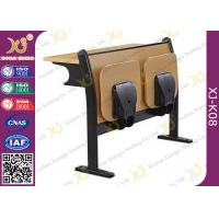 China Melamine Desktop Foldable Lecture Theatre Chairs Iron Hinge Type , ISO9001 wholesale