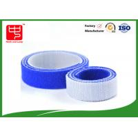 China 100% nylon blue hook and loop tape double sided hook and loop roll 25mm wide 25m / roll wholesale