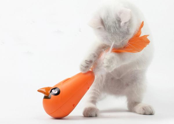 Quality Battery Operated Cat Exercise Toys , Interactive Cat Toys With Colorful Feather for sale