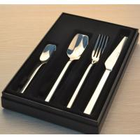 China Stainless steel cutlery set with gift box/four pcs set/gift set/knife fork spoon tea spoon set on sale