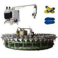 China Two density two color pu outsole foam injection machine with automatic production line wholesale