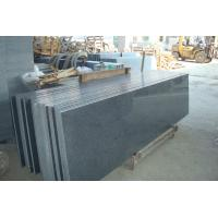 China Natural Granite Stair Treads And Risers , Black Gray Granite Slabs For Stairs wholesale