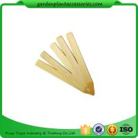 China Vegetable Bamboo Garden Plant Markers , Natural Wood Garden Stakes wholesale