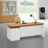 China MDF manager executive office desk wooden office desk on sale 2400*1200*750mm oak color luxury wholesale
