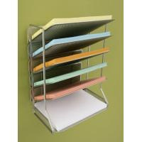 China Office Magazine Display Racks Desk Organizer With 6 Tray on sale