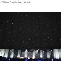 China Super Bright RGBW6x 4m LED Star Curtain , Backdrop Curtain Cloth for Stage Background wholesale
