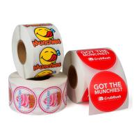 China Custom Roll Safe Food Packaging Stickers / Strong Sticky Self Adhesive Stickers wholesale
