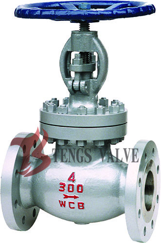 Quality Carbon Steel Industrial Globe Valve , A216 WCB ANSI Flanged Plug Disc Globe Valve for sale