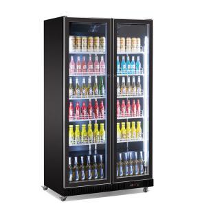 China 2 Glass Door Upright Drinks Fridge Bar Cold Drink Beer Display Cooler With LED Lights on sale