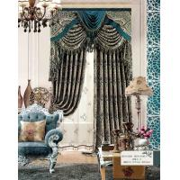 China Multi Color Floral Jacquard Sheer Lace Curtains Ready Made Window Curtain for Living Room on sale