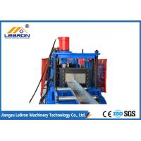 China Blue Color PLC Control Automatic Cable Tray Roll Forming Machine Long Time Service wholesale