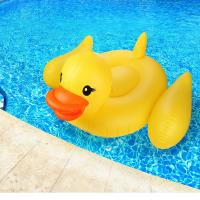 "China Adults & Kids Yellow Duck Pool Raft Huge 80"" Rubber Duck Inflatables Pool Float wholesale"