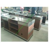 Buy cheap Stainless Steel  Cash Register Counter Stand / Retail Stores Till Counter from wholesalers