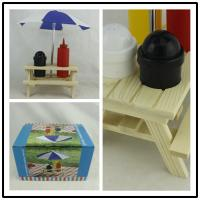 Buy cheap Outdoor Picnic Bench Condiment Set , Umbrella Salt Picnic Table Sauce Holder from wholesalers