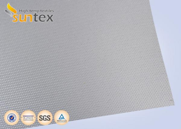 Quality Silver Grey Fire Resistant Fiberglass Welding Blanket Silicon Rubber Fabric for sale