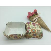 China Food Safe PET Paper Baking Cups Disposable Cute Special Pattern For Cupcake / Bread wholesale