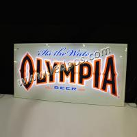 China OLYMPIA Beer Backbar Sign with LED Light wholesale