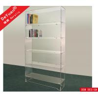 China Detachable Study Room Acrylic Book Shelf Transparent Acrylic Sheet For Book Collection on sale