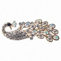 China Cute Silver Alloy Brooch, Fashionable, Ideal for Lovely Women and Girls wholesale