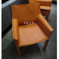 China Leather Contemporary Design Restaurant With Armrest Modern Dining Room Chair on sale