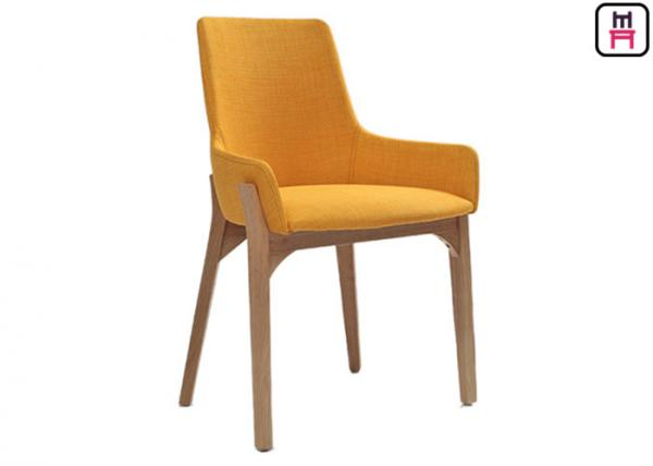 Quality Modern Minimalist Wood Restaurant Chairs Nordic Fabric Seats W43 * D41 * H80cm for sale