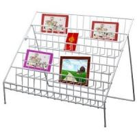 China Portable Acrylic Double Side Floor Literature Magazine Display stand Rack 12 compartments on sale