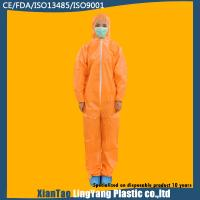 China Chemical Resistant Disposable Cleanroom Coverall , Custom Disposable Dust Suits on sale