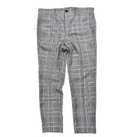 China Light Gray CHECK Mens Slim Fit Suit Trousers Office Business Classic wholesale