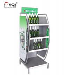 China Customized Wine Display Stand Beverage Beer Display Rack Pop Merchandise Displays wholesale