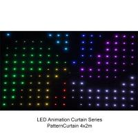 China Full Color P9 to P20 4 x 3m LED Video Curtain , Flexible Soft Led Stage Screen 200w wholesale