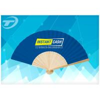 China 21cm Promotional Bamboo Folding Hand Fans With Paper Or Fabric wholesale