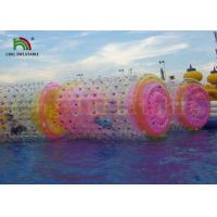 China Giant Transparent PVC / TPU Inflatable Water Toy Roller For Kids And Adults on sale