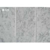 Carrara White Marble Stone Tile Thin Strip Cut To Size Corrosion Resistance